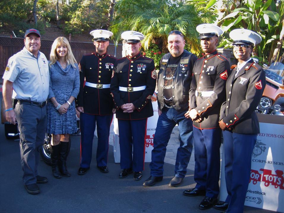 San Diego Jeep Club, Del Mar Thoroughbred Club, Marines, and Mike Harris