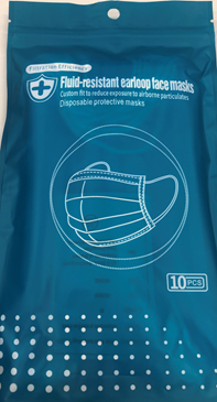VIP Blue Disposable Face Masks (10pcs/bag)