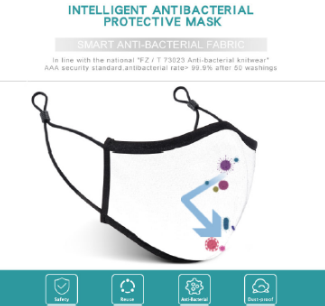 VIP Smart Antibacterial Cotton Mask (5pcs / box)
