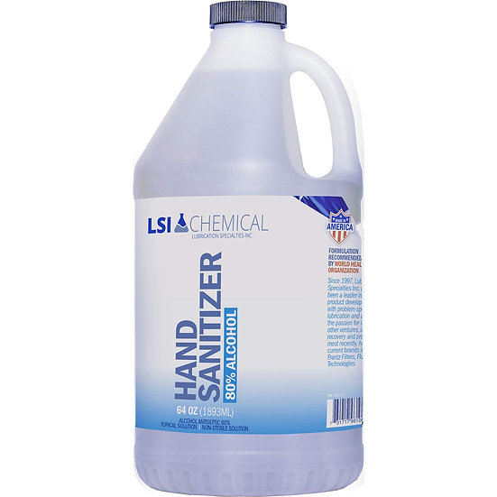 0.5 Gallon Rinse-Free Antibacterial Hand Sanitizer Gel (64 fl oz)
