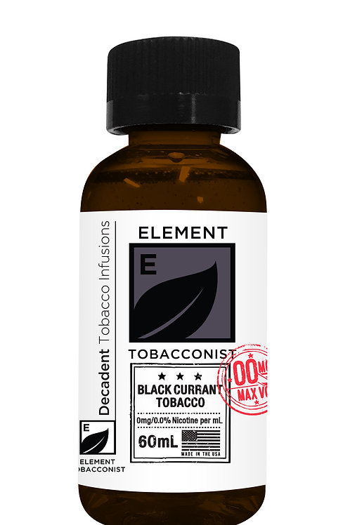 ELEMENT TOBACCONIST BLACK CURRANT TOBACCO 60ML
