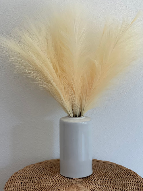 Tabletop Faux Pampas // Light Yellow