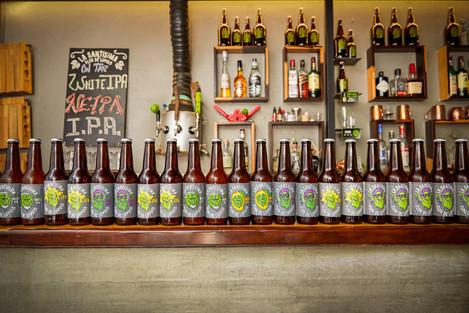 La Santibarra y las botellas
