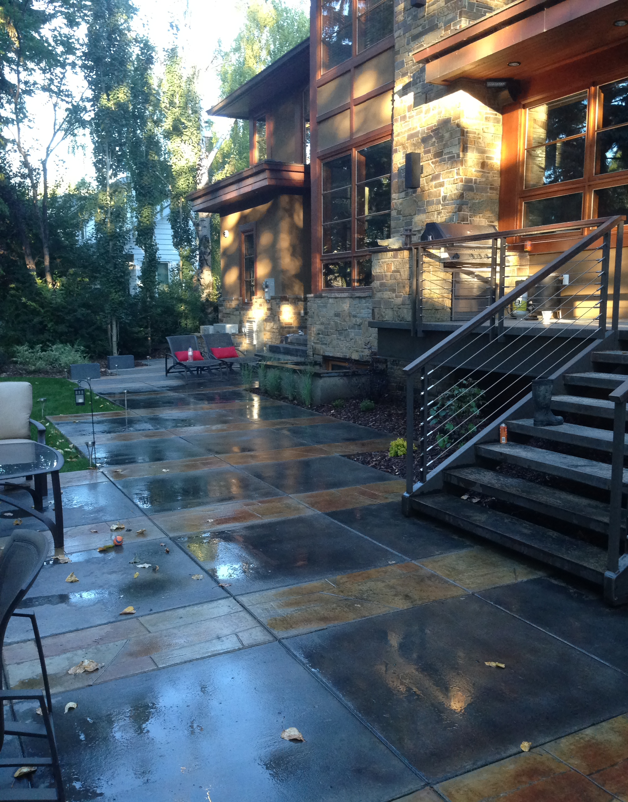 Acid Stained Concrete Pad