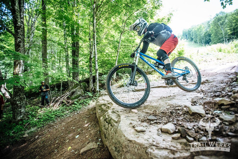 Testing a new downhill bike at Snowshoe
