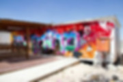ציור גרפיטי ענק במועדון נוער