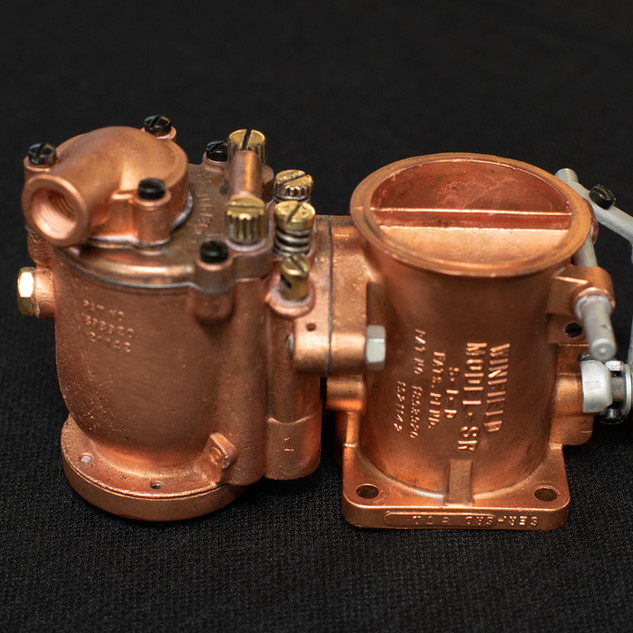 Fresh Copper Plating on Winfield Carburetor