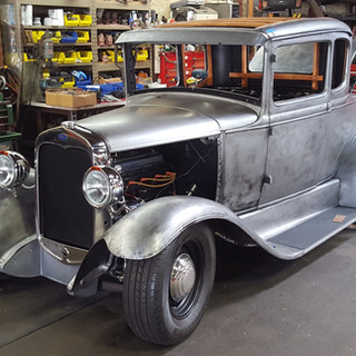1931 Ford Model A Cragar Overhead
