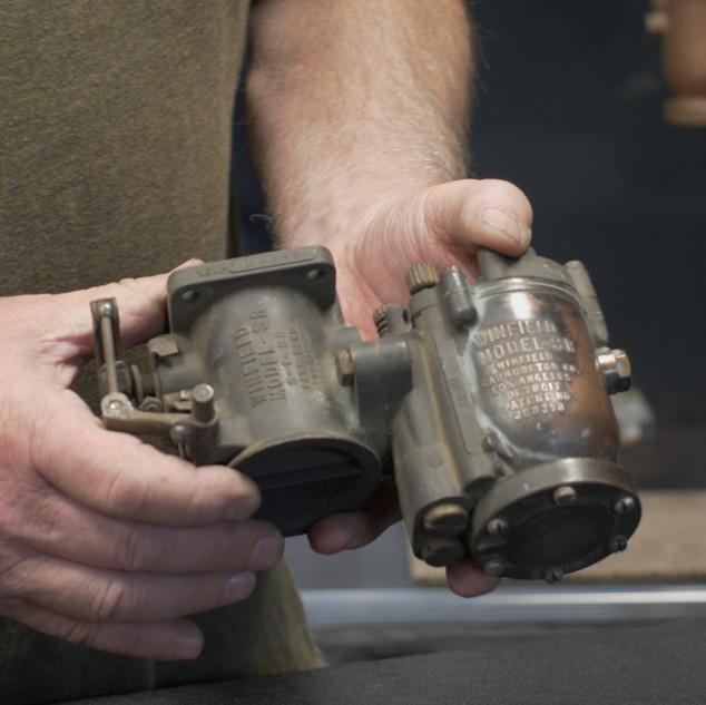 Original Copperplating on a Winfield Carburetor