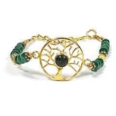 Bracelet aventurine avec arbre de vie