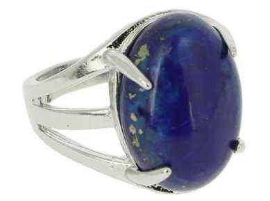 Fantaisie Bague griffe lapis lazuli