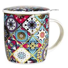 Mug à thé/ tisanière en porcelaine