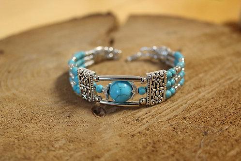 Bracelet fantaisie manchette turquoise