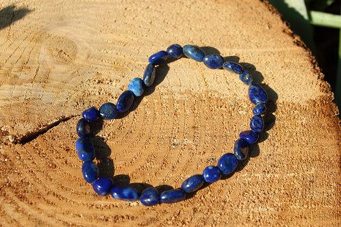 Bracelet galet lapis lazuli