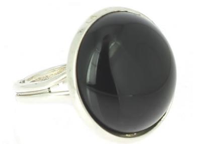 Bague obsidienne œil céleste