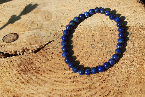 Bracelet lapis lazuli AA 06mm