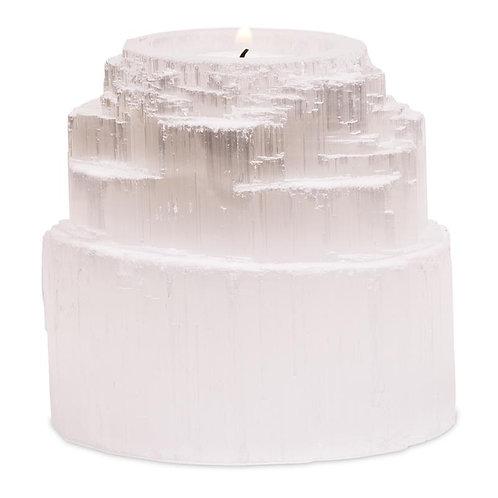 Bougeoir/ Eclairage cascade en sélénite
