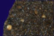 Chondrite, Dar al Gani 862, détail de la coupe