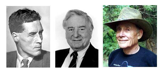 Patrick Blakett Prix Nobel 1952, Keith Runcorn et Ted Irving.