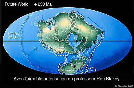 Les continents dans 250 millions d'années.