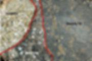 NWA 3333 , brèche avec fragments de gabbro et fragments de basalte