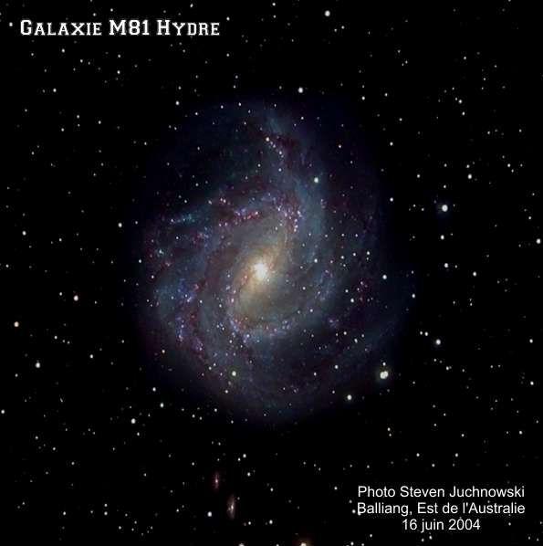 Galaxie M-81, Hydre.