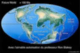 Les continents dans 150 millions d'années.