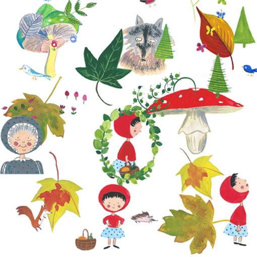 Petit chaperon rouge, Rotkapchen, illustration