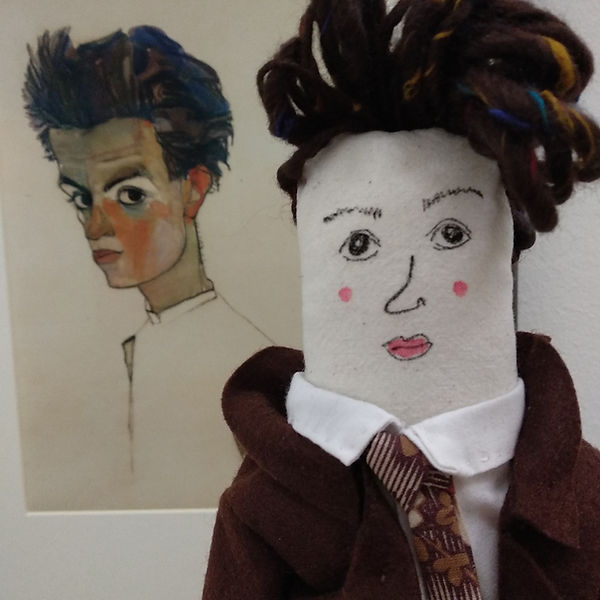 Egon Schiele, two portraits