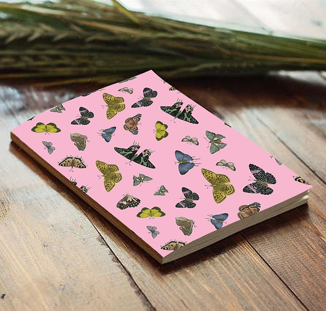 Notebook Butterfly pattern
