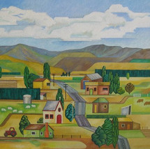 Central Otago  (after Rita Angus)