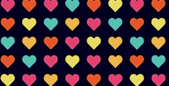 Lençol - Corações Coloridos Marinho