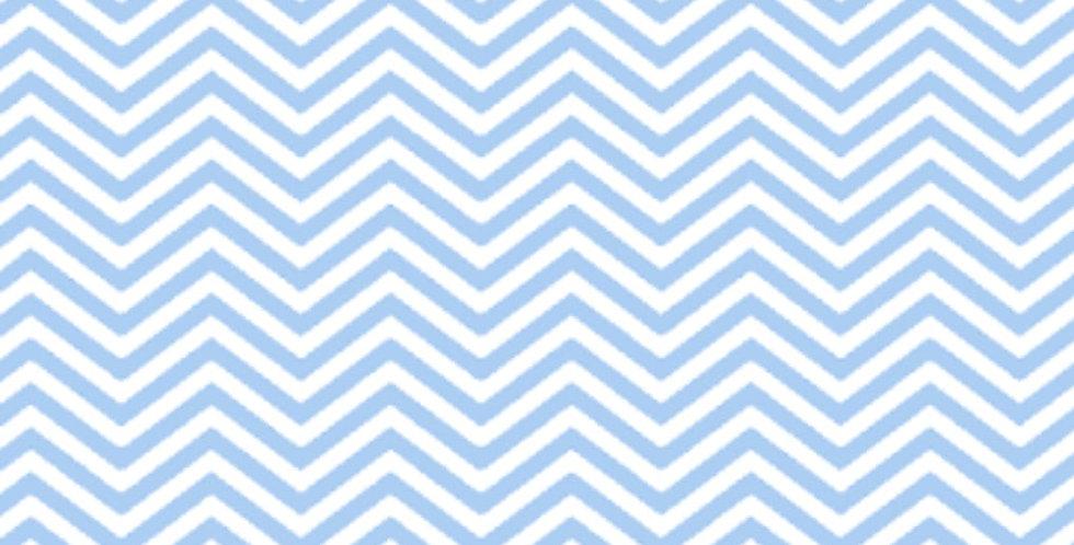 Lençol - Mini Chevron Azul