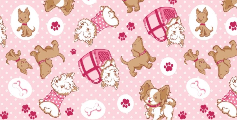 Lençol - Cachorrinho Rosa