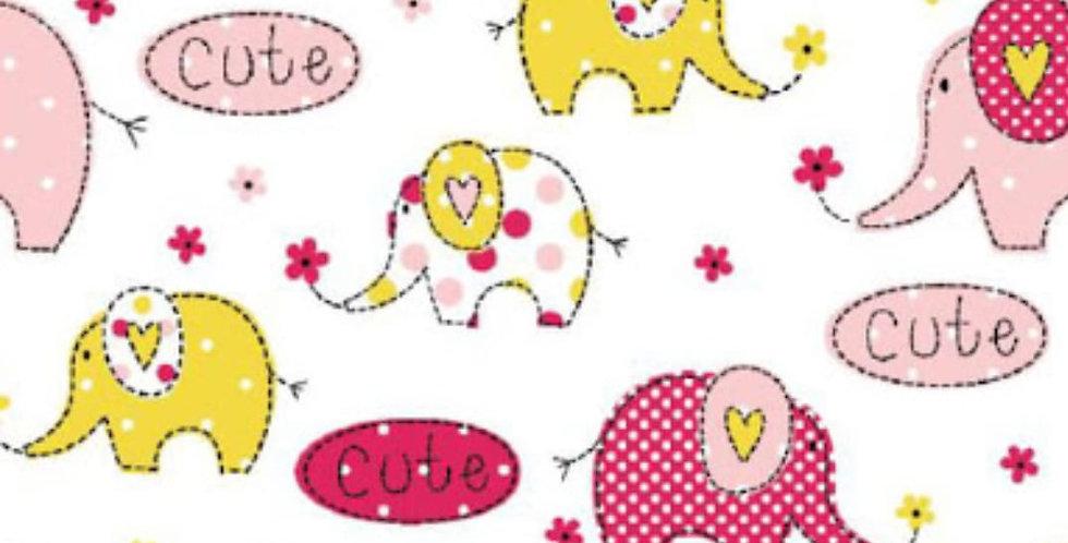 Lençol - Elefante Rosa e Amarelo
