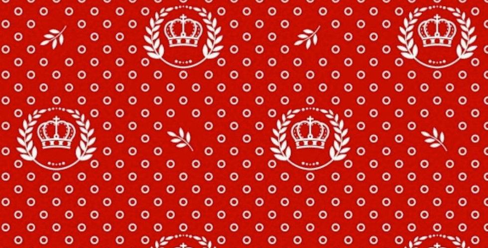 Lençol - Coroa Vermelha com Ramos