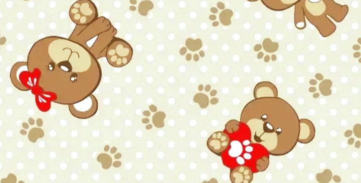 Lençol - Ursinho Bege