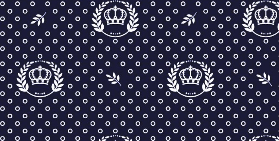 Lençol - Coroa Azul Marinho com Ramos