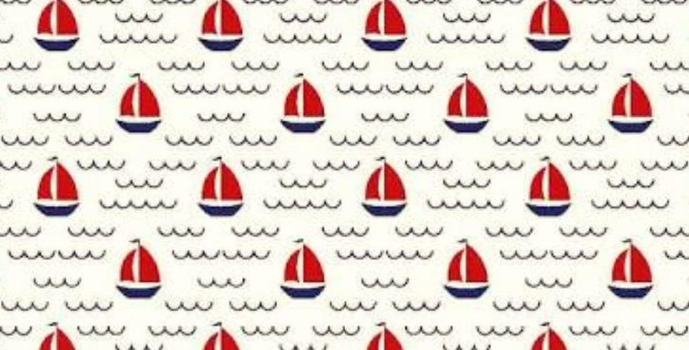 Lençol - Barco a Vela