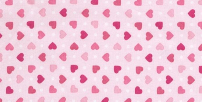 Lençol - Coração Rosa