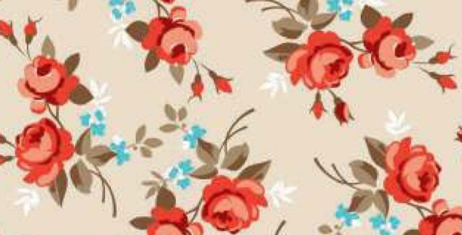 Lençol - Floral Bege