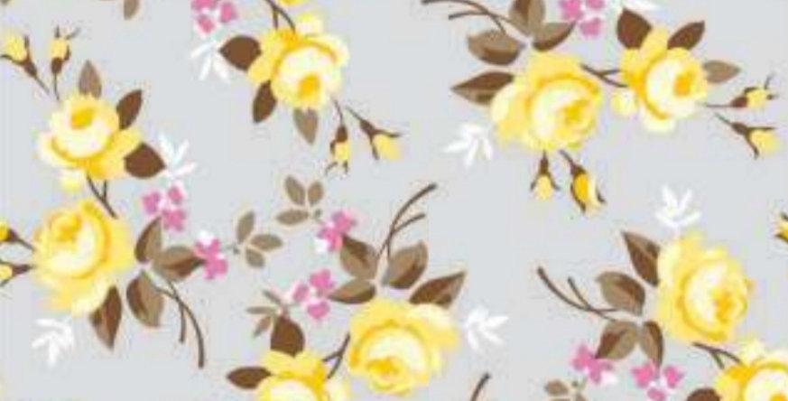 Lençol - Floral Cinza