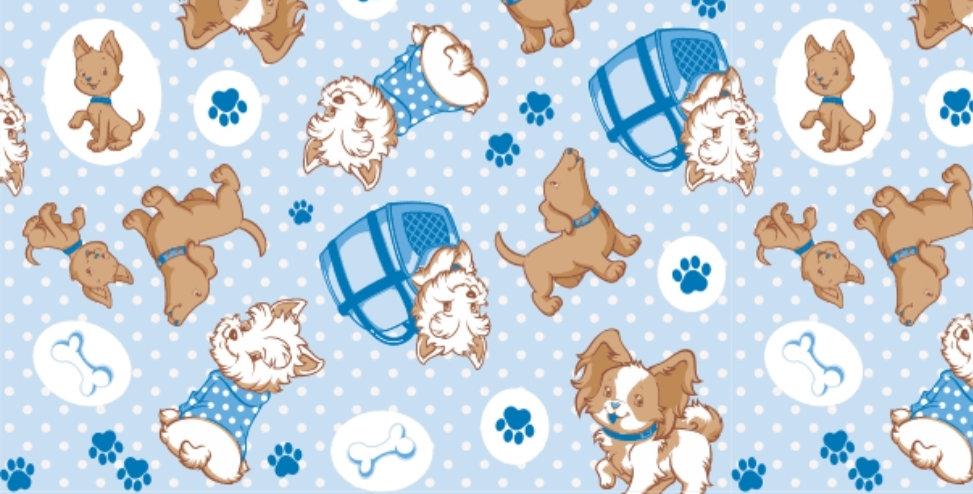 Lençol - Cachorrinho Azul