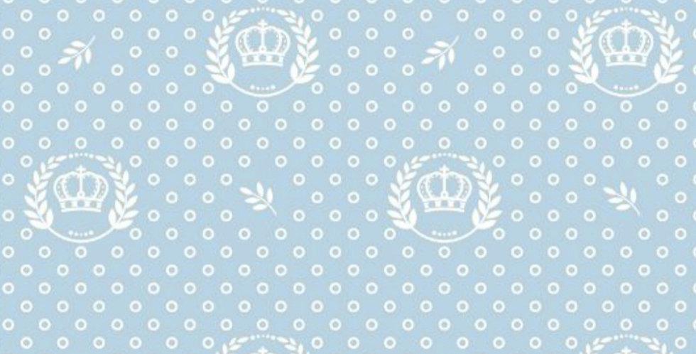 Lençol - Coroa Azul Claro com Ramos
