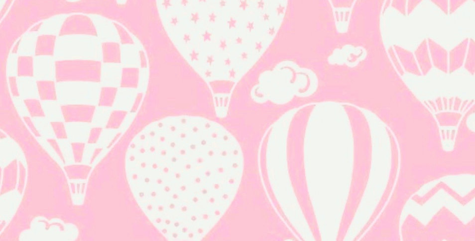 Lençol - Balão Branco com Rosa