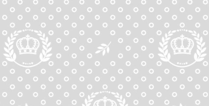 Lençol - Coroa Cinza com Ramos