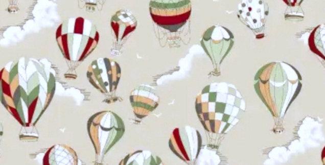 Lençol - Balões Estampados Bege