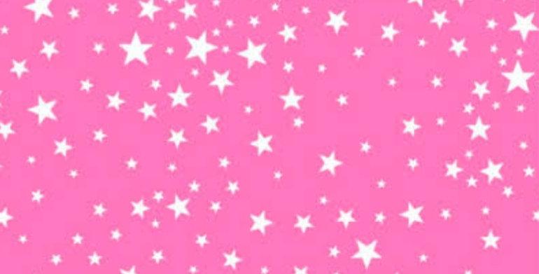 Lençol - Estrela Rosa Pink
