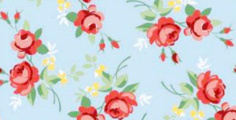 Lençol - Floral Azul