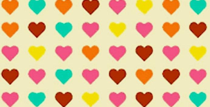 Lençol - Corações Coloridos Bege